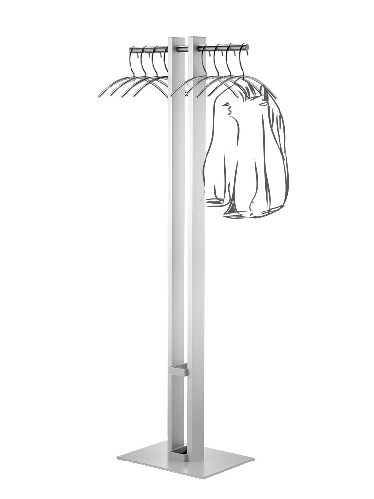 Tenero 3362 | coat rack | umbrella fitting | silver matte finish